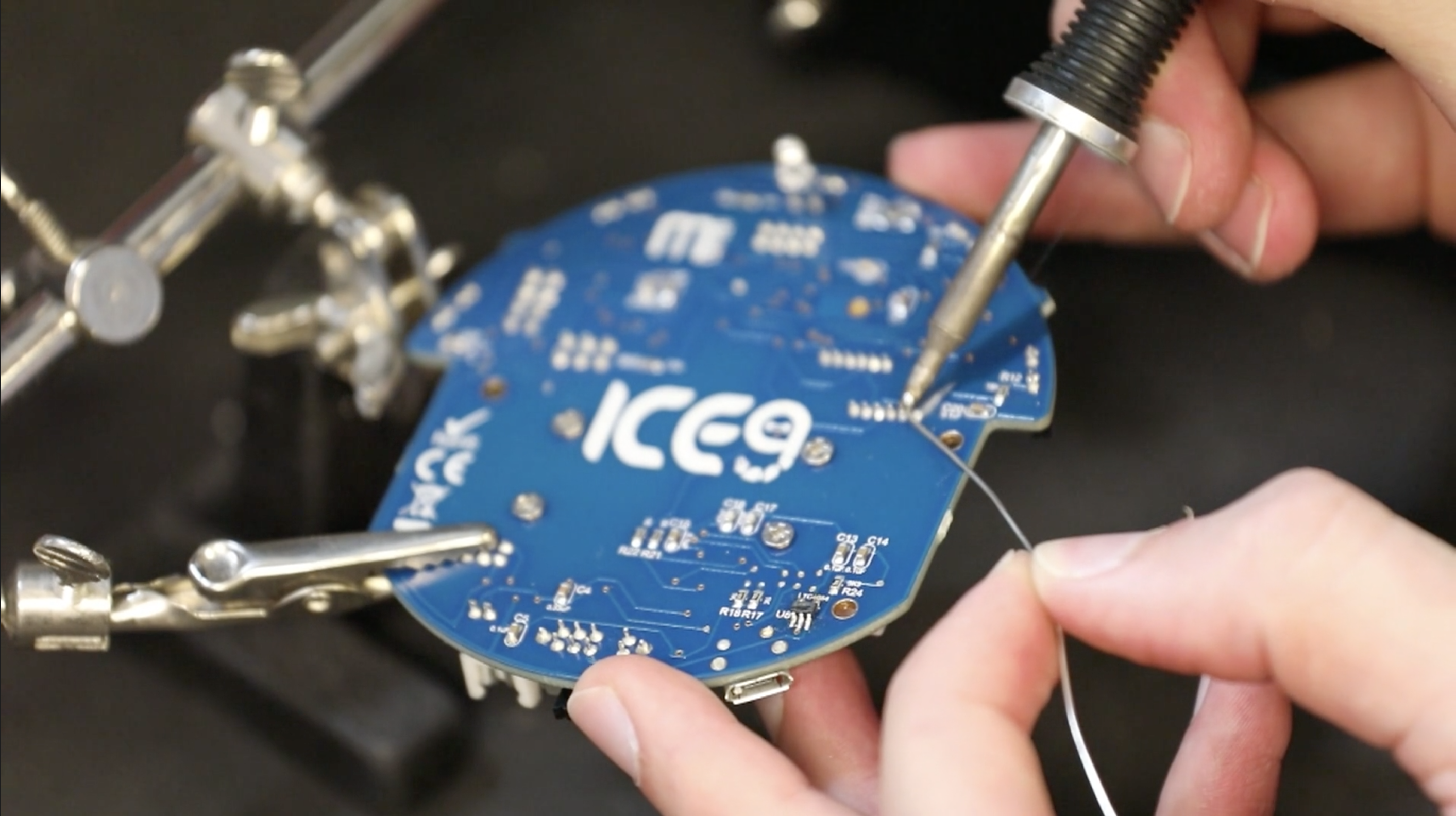 A computer chip designed by Ice Nine Ltd, to be added on to the MONA robotic platform.